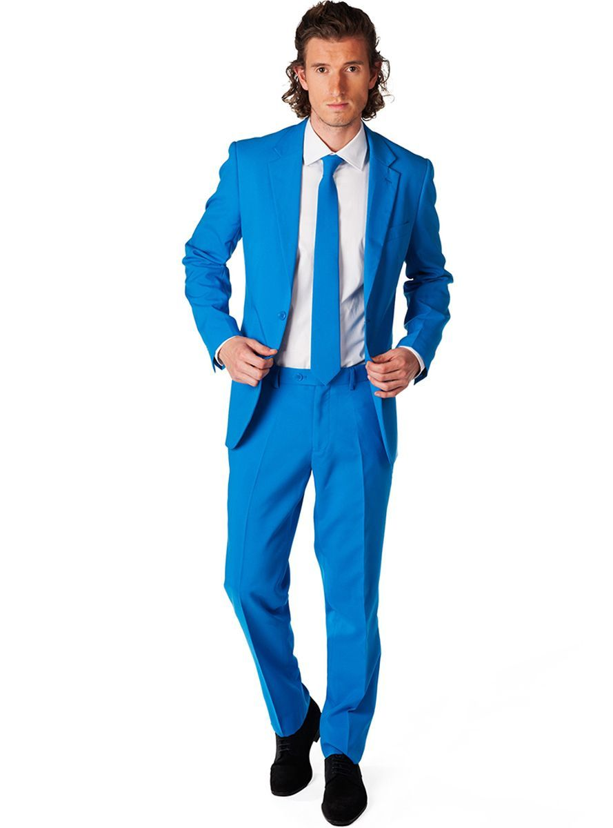 Traje azul eléctrico Opposuit para hombre | Comprar | Traje azul ...