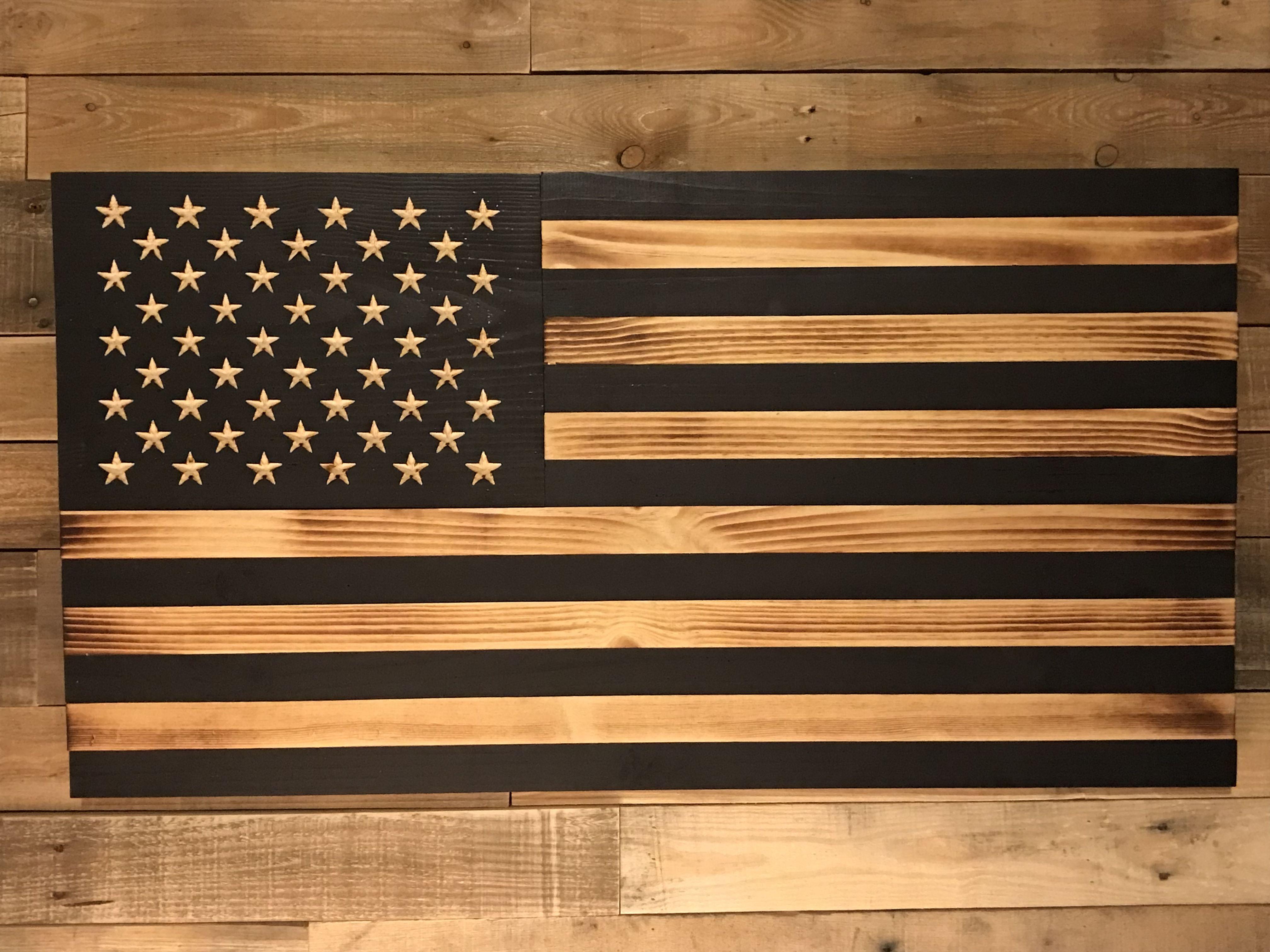 Rustic Subdued American Wood Flag Wood Flag American Flag Wood