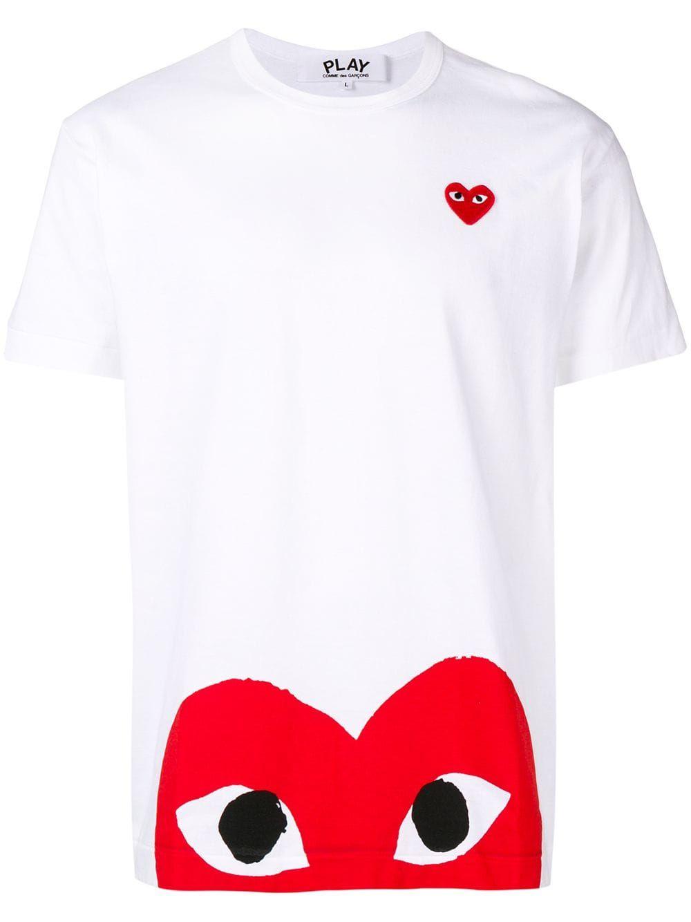 Comme Des Garçons Play Heart Logo Hoodie Farfetch
