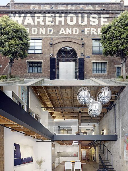 Historic San Francisco Warehouse Turned Stylish Loft Techeblog Warehouse Living Stylish Loft Loft Design