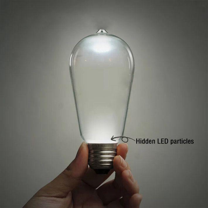 4pcs 3w Led Retro Incandescent Vintage Light Bulb Edison Bulbs Fixtures Decorative Filament