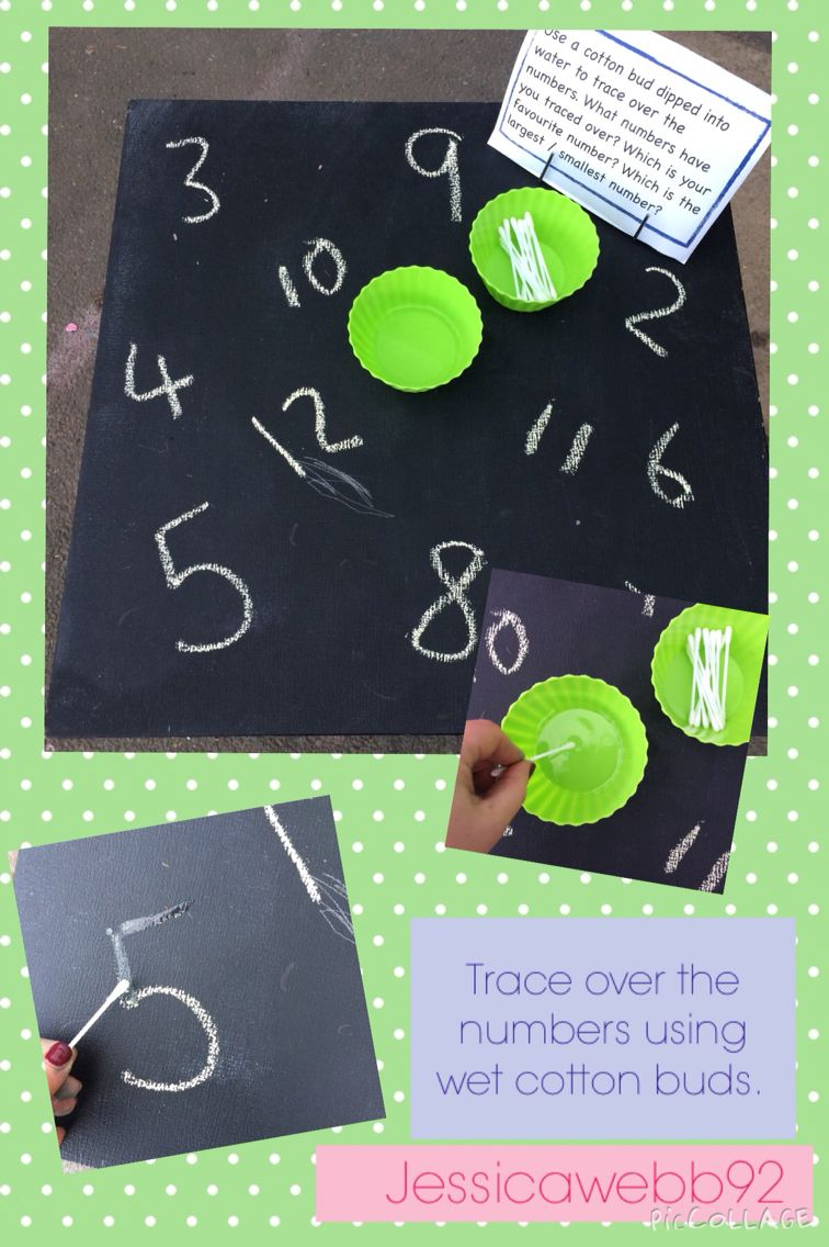 Use a wet cotton bud to trace