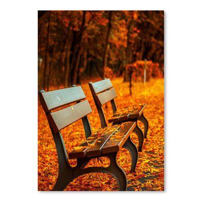East Urban Home 'Autumn With Bank Landscape' Photographic Print | Wayfair #fallscenery