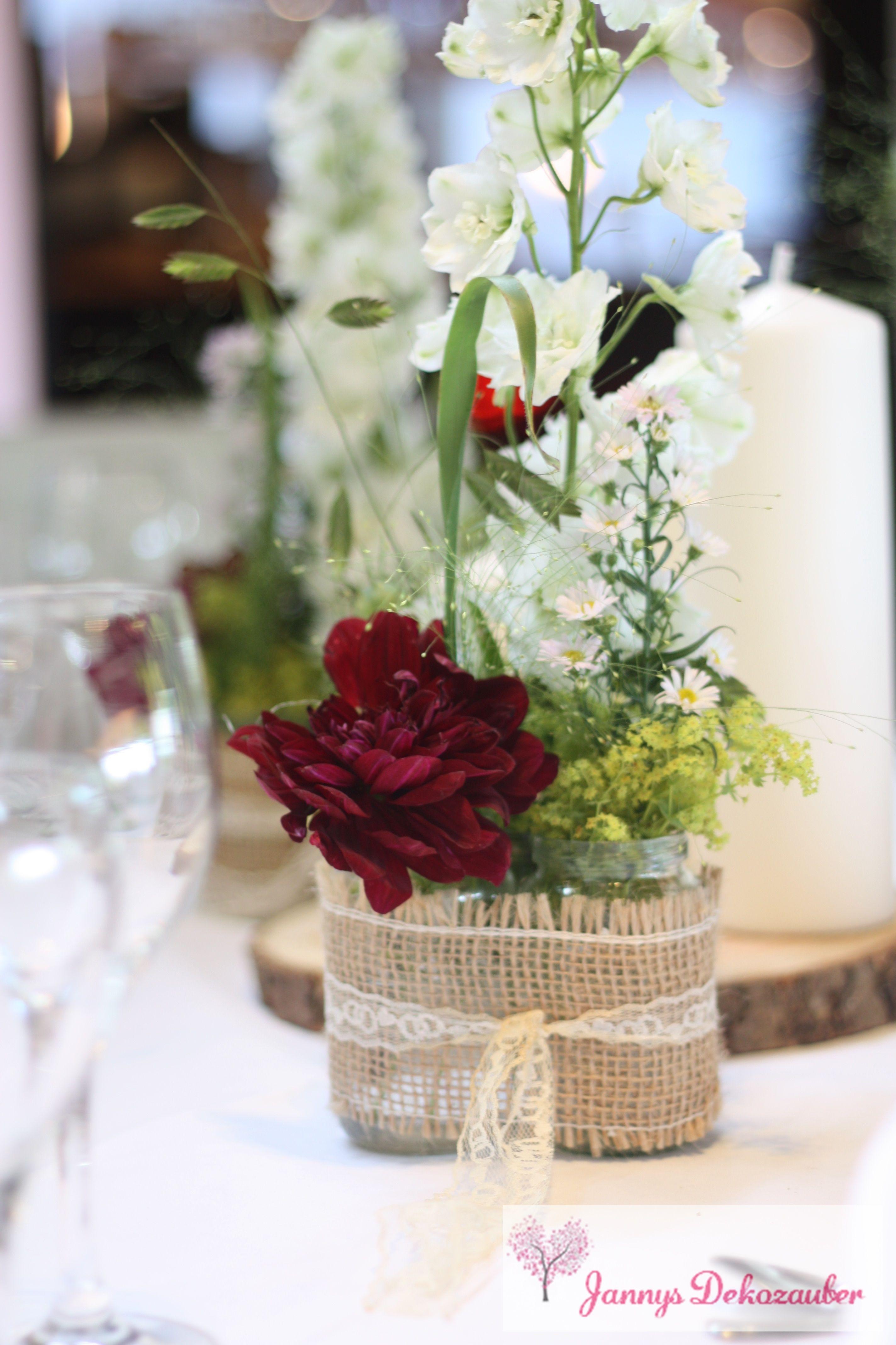 Vintage Blumen Baumscheibe Hochzeitsdeko Jute Spitze