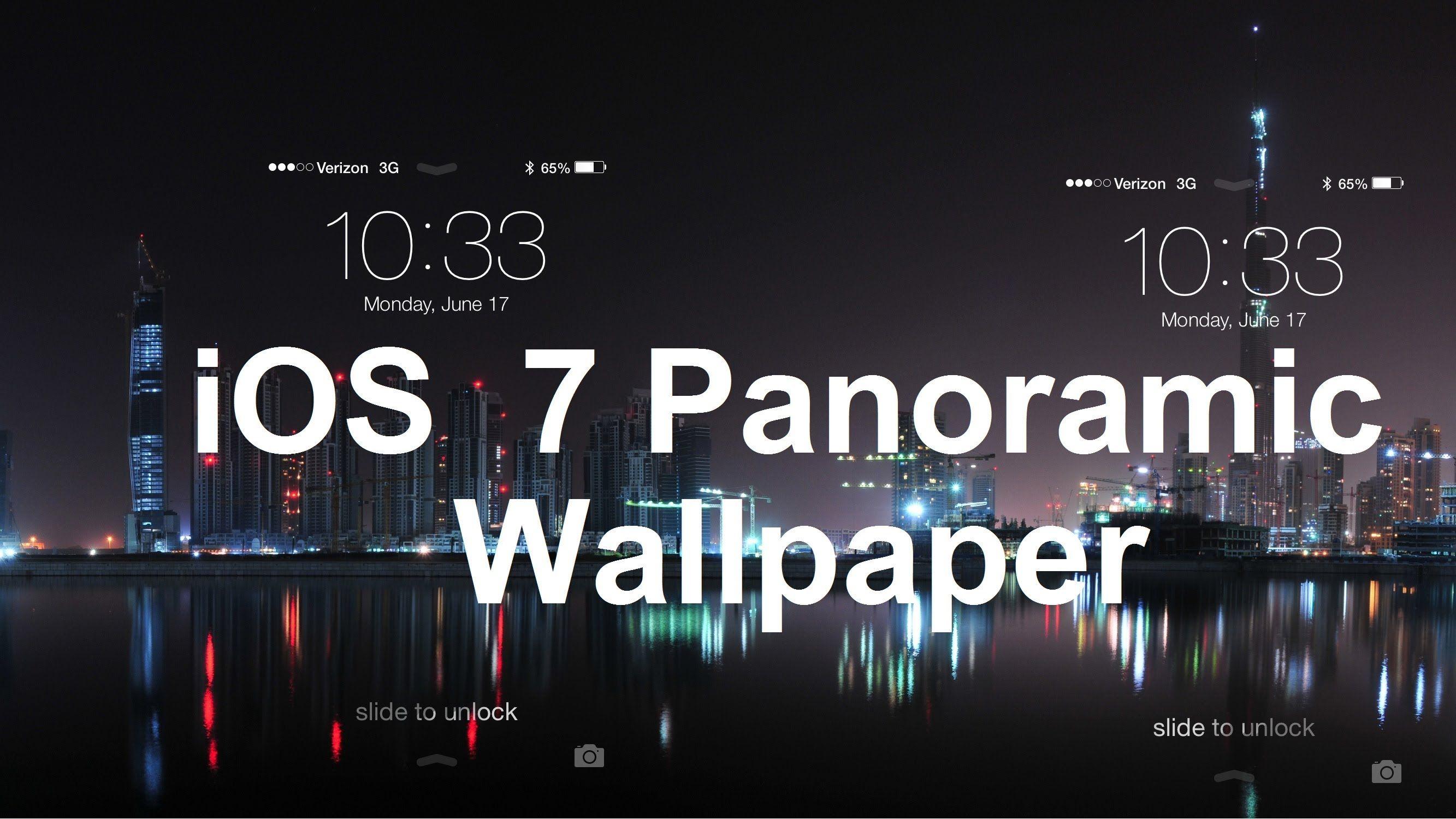 ios 7 panoramic wallpaper youtube