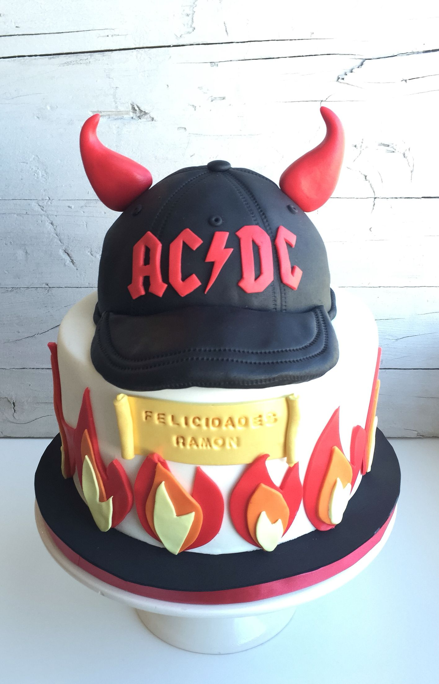 ACDC Cake Music Themed Cakes Drum 50th Happy