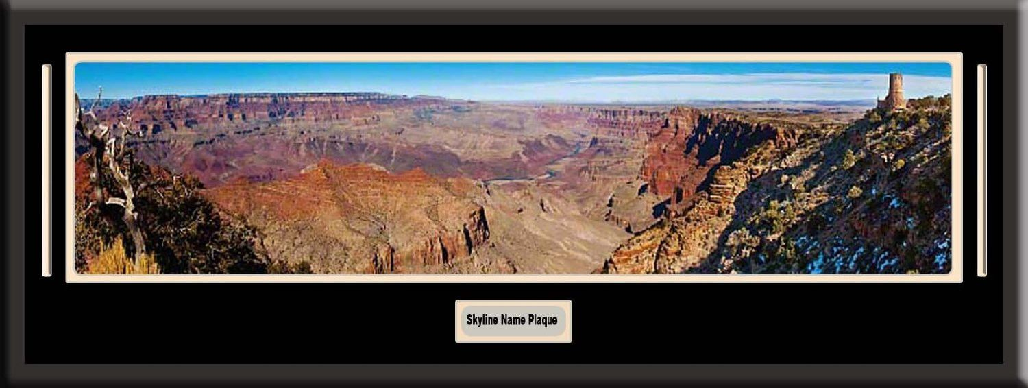 Grand canyon national park skyline panoramic comes with 1 12 inch grand canyon national park skyline panoramic comes with 1 12 inch black leather frame jeuxipadfo Gallery
