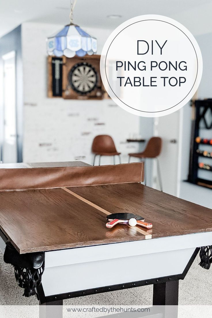 How to make a ping pong table top for a pool table in 2020