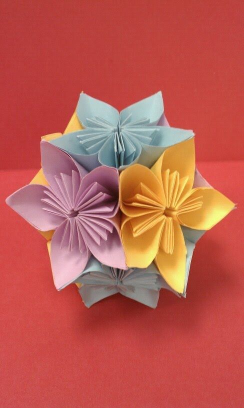 Diy How To Fold An Origami Kusudama Flower Ball Arts Crafts