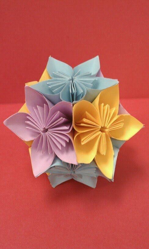 Origami Flower Ballkusudama Papiroflexia Y Marcapaginas Origami