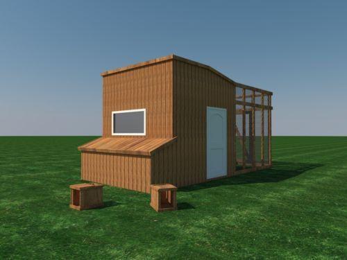 chicken coop plans diy poultry hen house with run kennel 8 x10 rh pinterest com