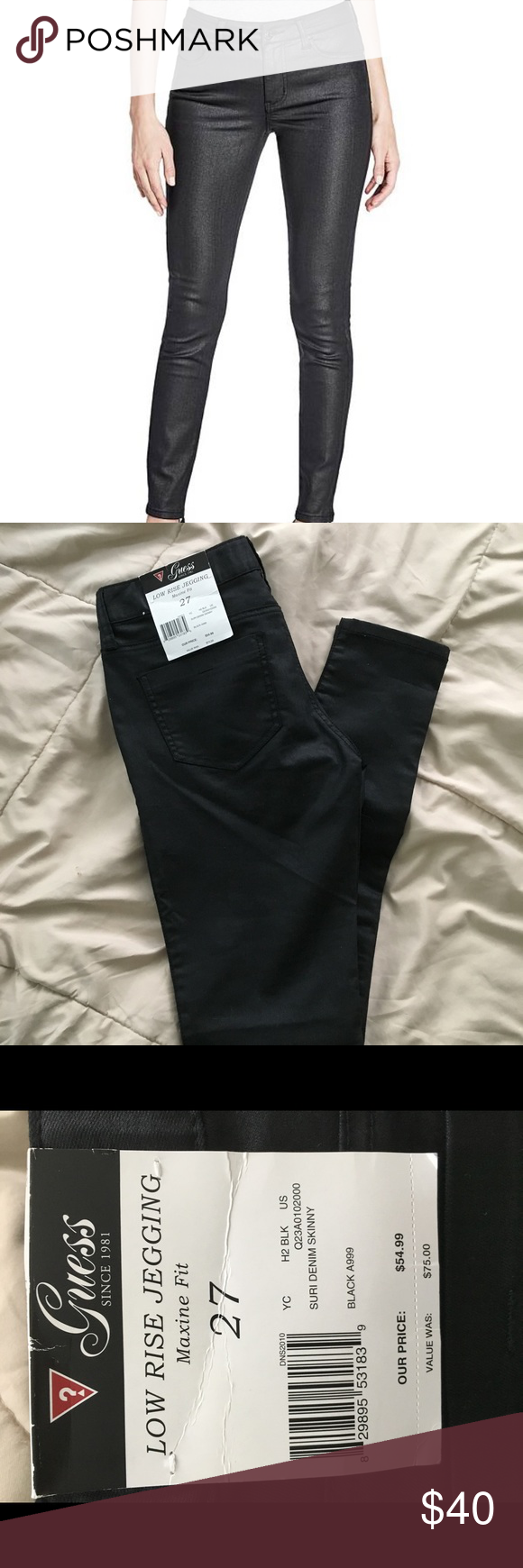 Guess Maxine fit jeggings black NWT