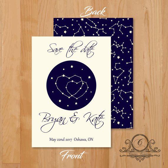 Galaxy invitation, Written in the stars Template, Editable Text