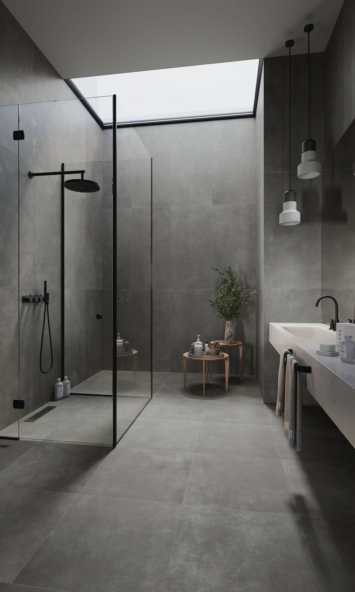 Vloertegels 120x120 Cm A23 Lux Antraciet Modernbathroom 120x120 A23 Antraciet In 2020 Wohnung Badezimmer Badezimmer Modernes Badezimmerdesign