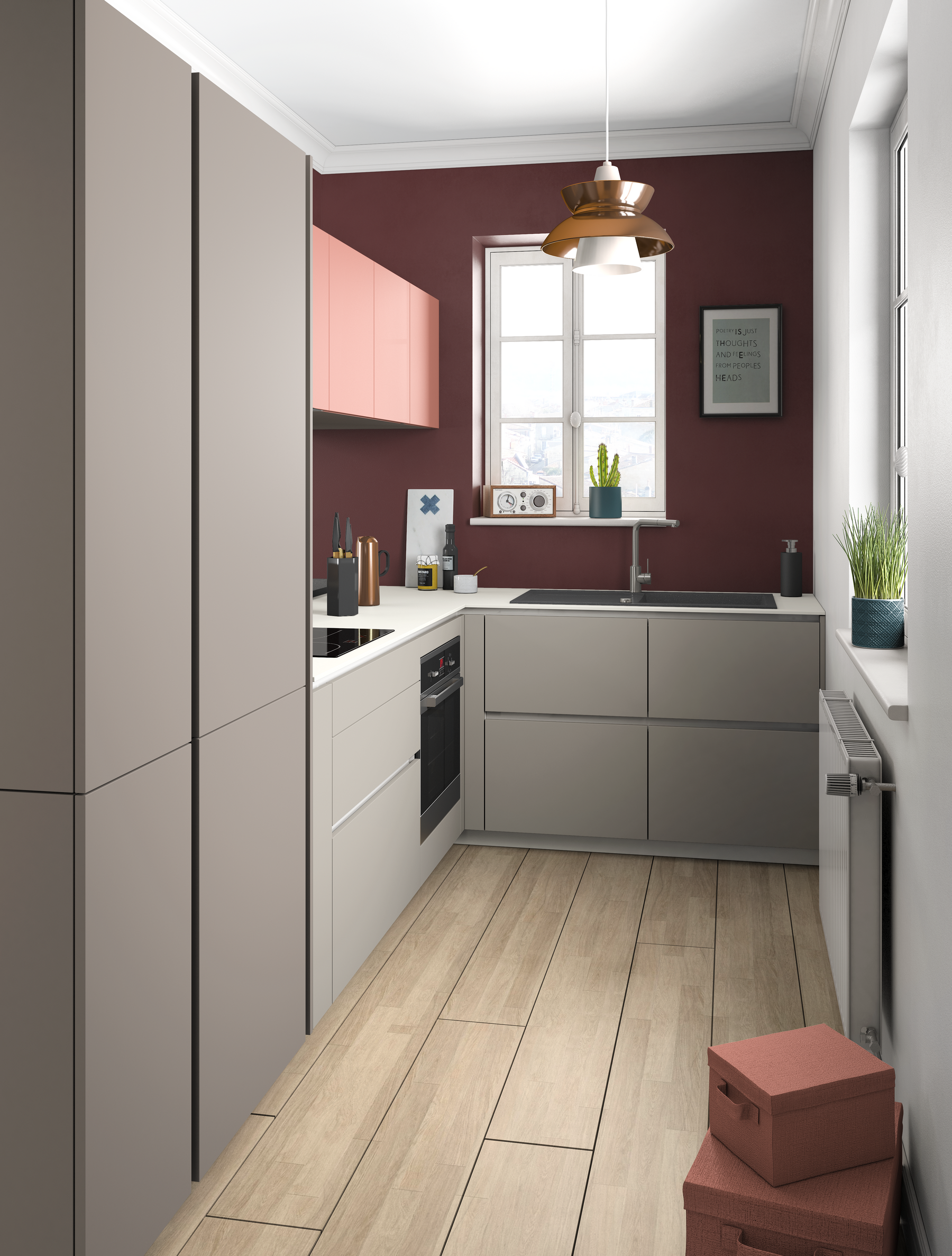 Cuisine Colorée Ambiance Rétro Crafts Makeovers Kitchen Kitchen Cabinets Et