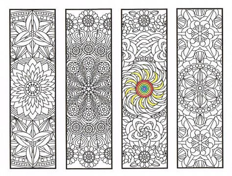 Coloring Bookmarks - Flower Mandalas Page 2 - coloring for adults ...