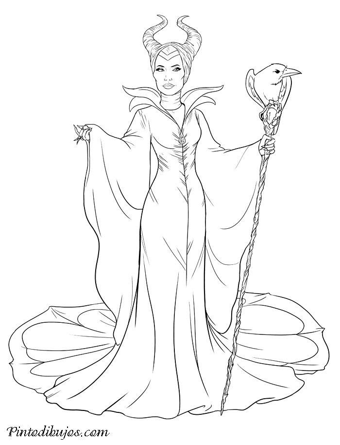 Maleficent coloring pages | Inkleur | Pinterest | Upcoming disney ...