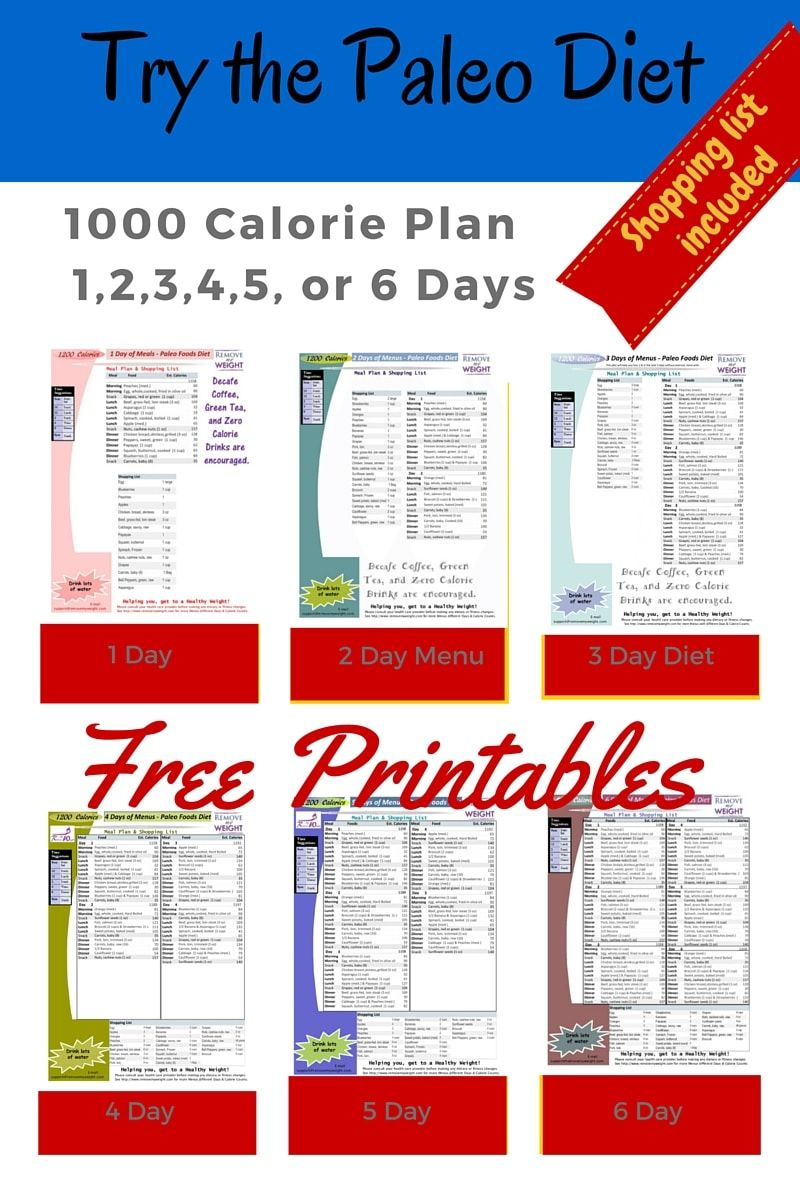 Paleo Diet: 1000 Calories Per Day | Health & Beauty ...
