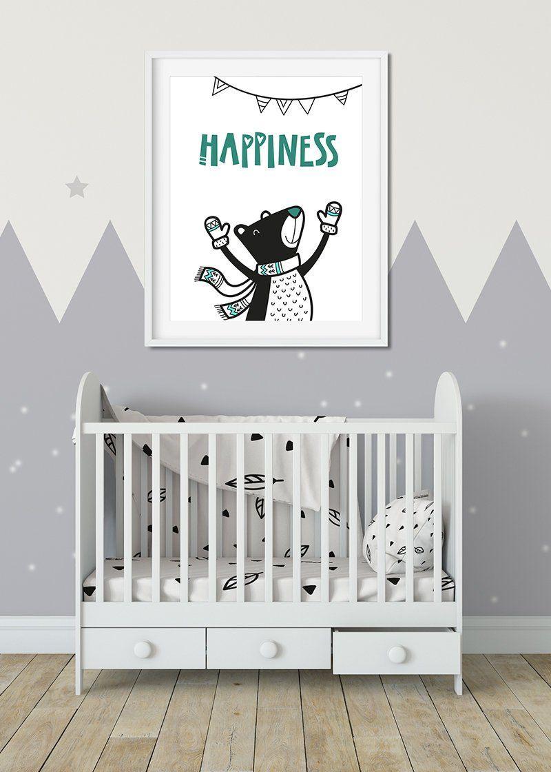 Druck Bär Kinderzimmer Wanddeko Baby als digitale Datei