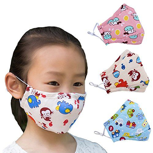 Kids Children Masks Cartoon Cotton Mask PM2.5 Guaze Mask Dustproof Face S