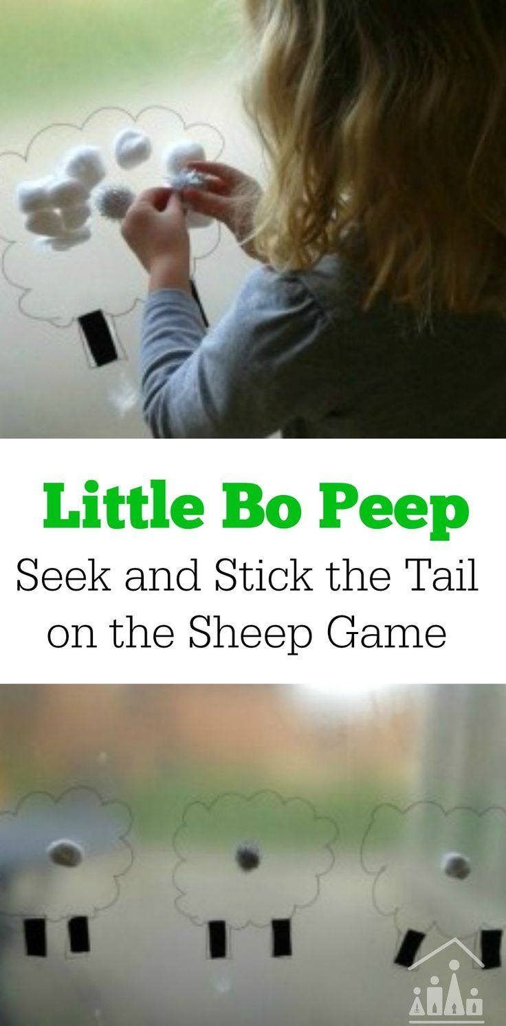Little Bo Peep Seek and Stick the Tail on the Sheep Game ...
