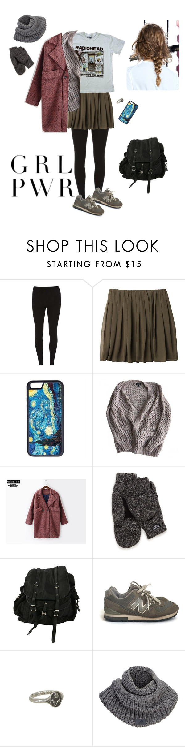 """""""What I'm wearing"""" by prusius on Polyvore featuring moda, Dorothy Perkins, Uniqlo, CellPowerCases, Topshop, X:Y, AllSaints, New Balance, Pyrrha y adidas"""