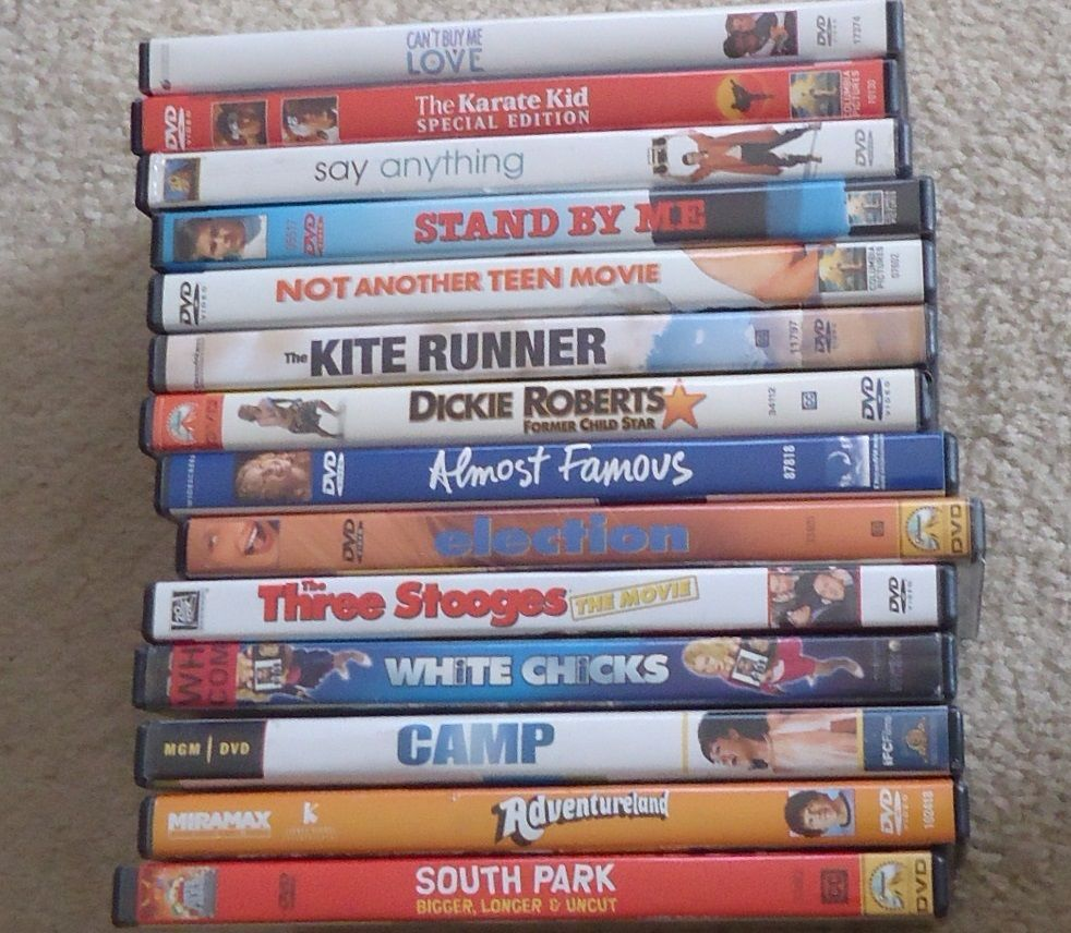 15 TEEN DVDs Movies Lot CAN'T BUY ME LOVE karate kid KITE RUNNER stand by me +++
