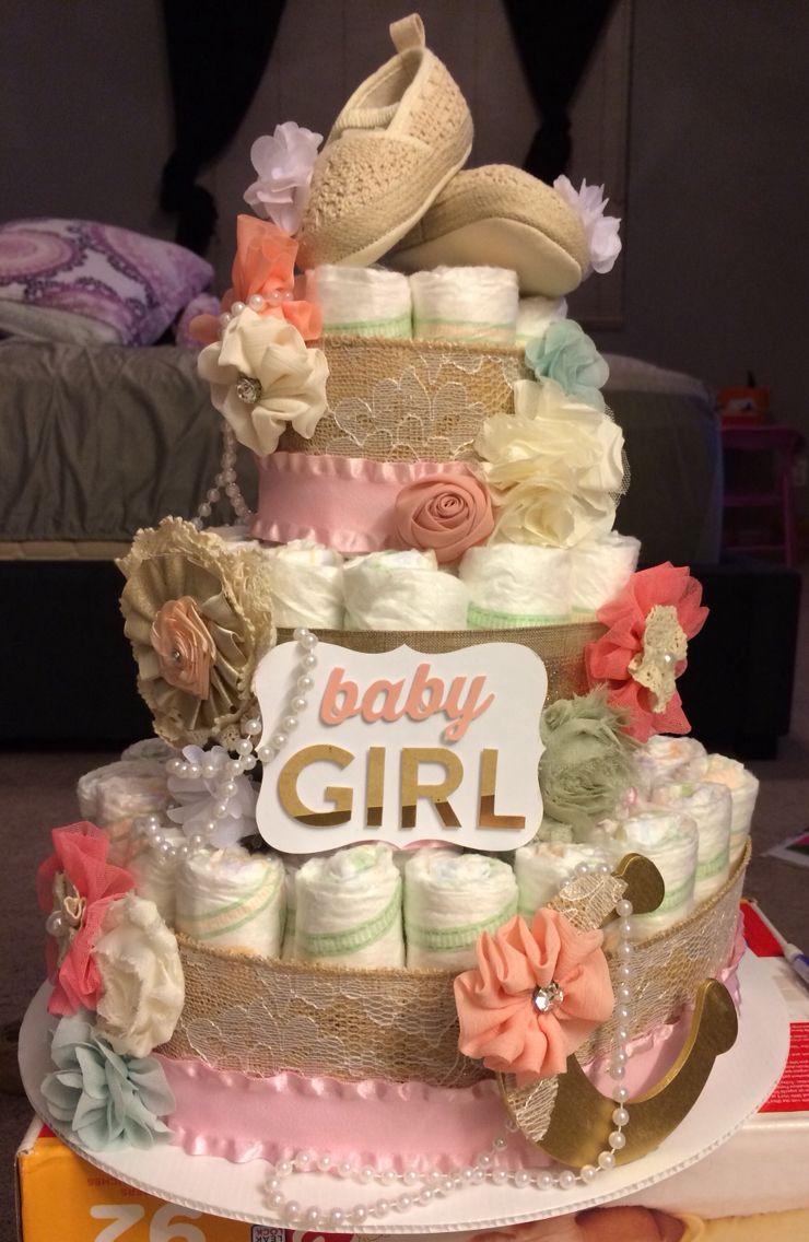 Vintage diaper cake Vintage diaper cake, Baby diaper