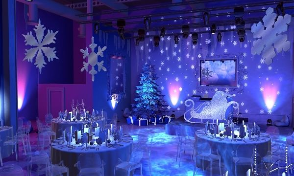 Over the top winter wonderland for a corporate christmas