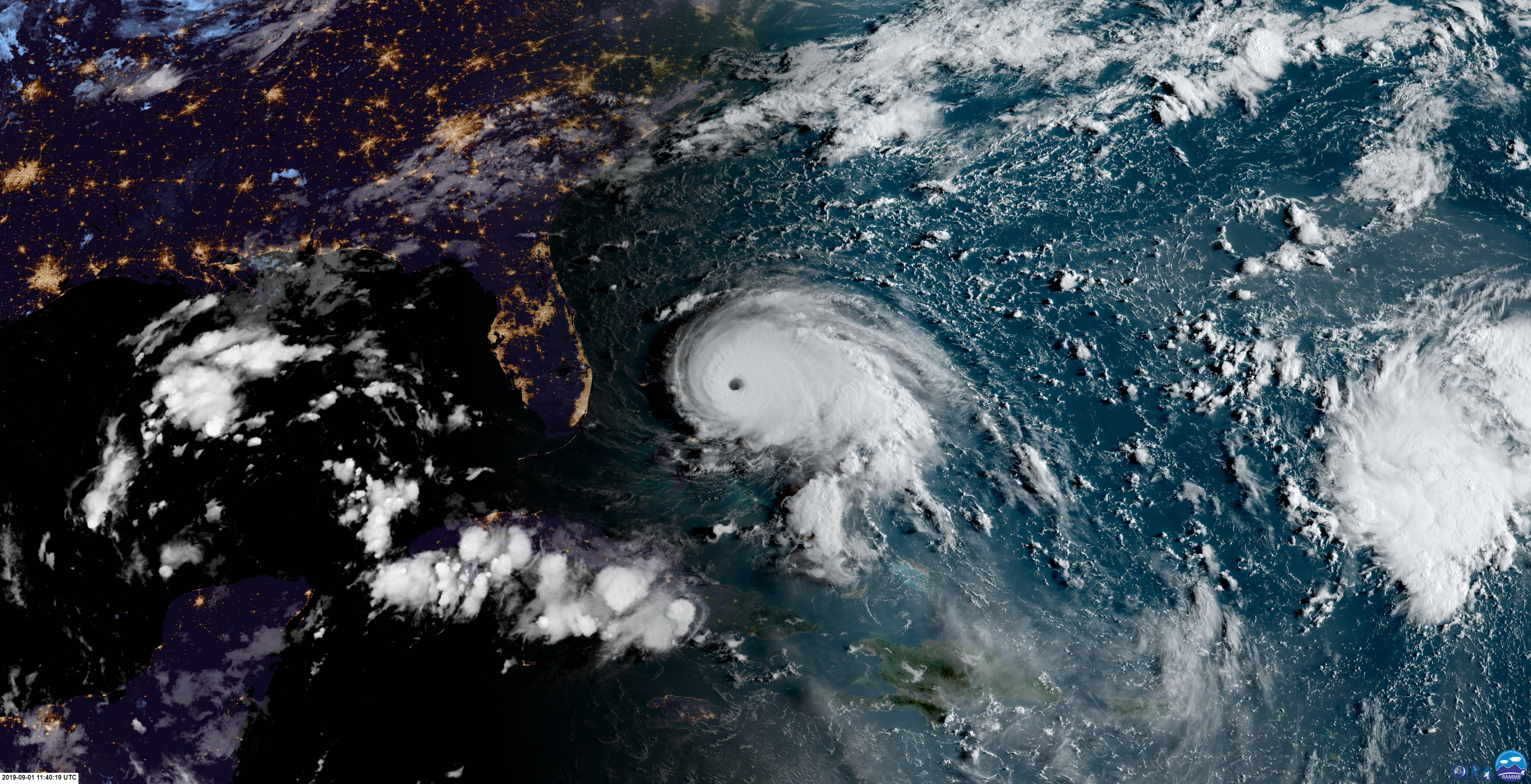 Hurricane Dorian At Daybreak On September 1st Hurricane Storm National Hurricane Center