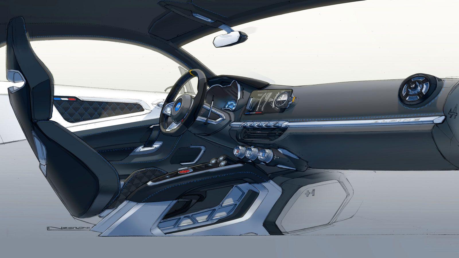 alpine vision concept interior design render car interior rh pinterest com