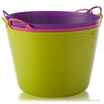 Buy 40lt Large Plastic Flexi Trug Tub Horse Feeding Bucket Plastic Storage Bins Storage Bins Flexi