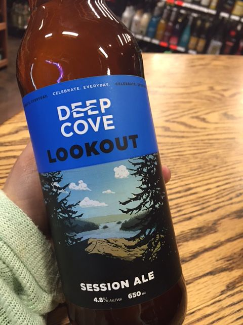 Lookout by Deep Cove is a New Zealand style Pale Ale, this Pale Ale showcases Rakau, Wakatu and Waimea hops which are native to New Zealand. #deepcove #sessionale #ale #beer #beerme#craftbeer #crafty