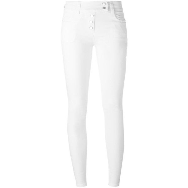 Nº21 Skinny Jeans ($277) ❤ liked on Polyvore featuring jeans, white, skinny leg jeans, skinny jeans, white skinny leg jeans, white denim skinny jeans and skinny fit jeans