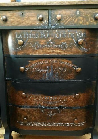 i could sponge paint edges of the drawers black and use light rh pinterest com