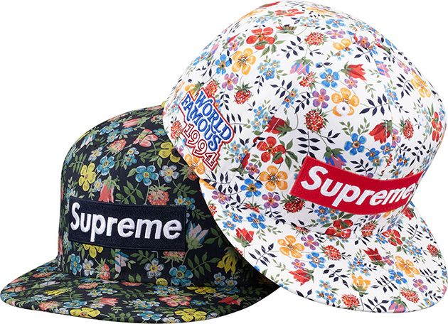 e136a6fea20 Supreme x Liberty Floral Box Logo New Era Caps