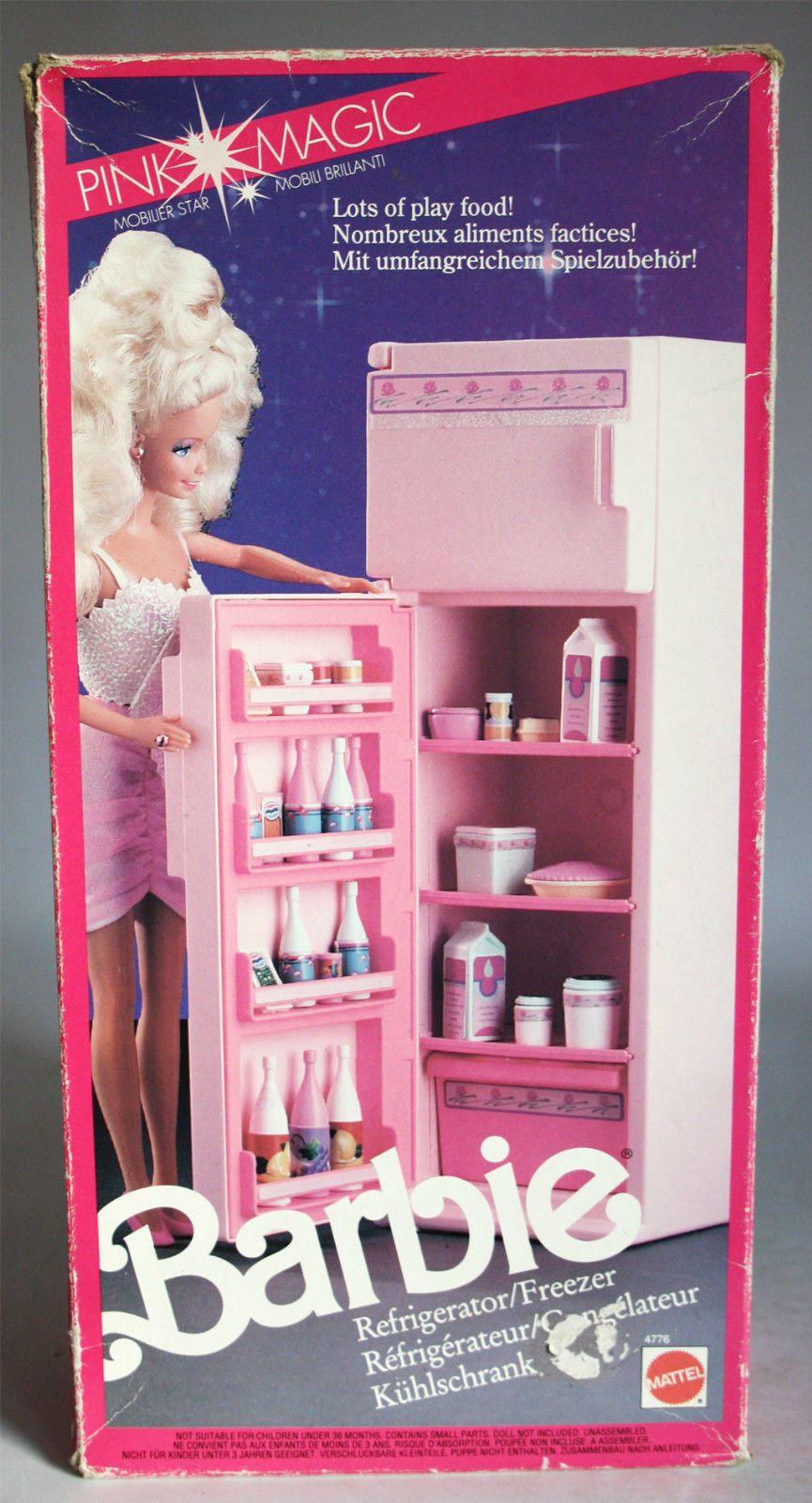 Very rare vintage 1991 barbie refrigerator freezer pink magic ...