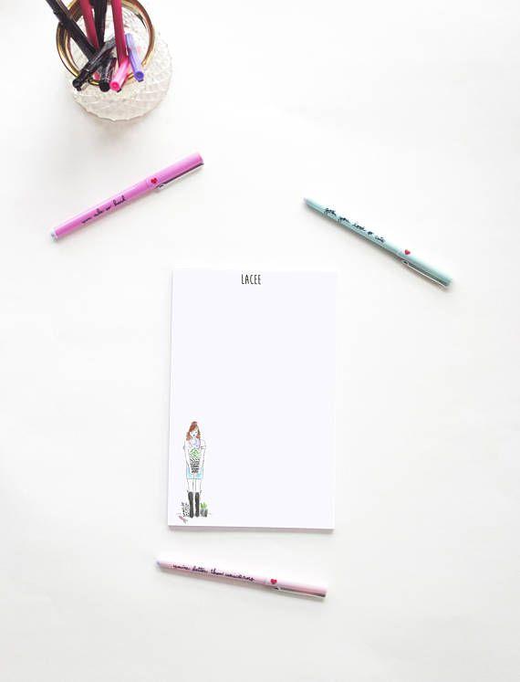 garden girl personalized notepad to do list office supplies rh pinterest com