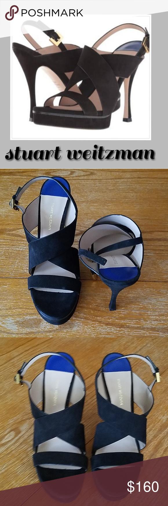 bb3318af917 Stuart Weitzman Hester Suede Sandal Heels. Sz 10.5 Gorgeous Stuart Weitzman  Hester Suede Platform High