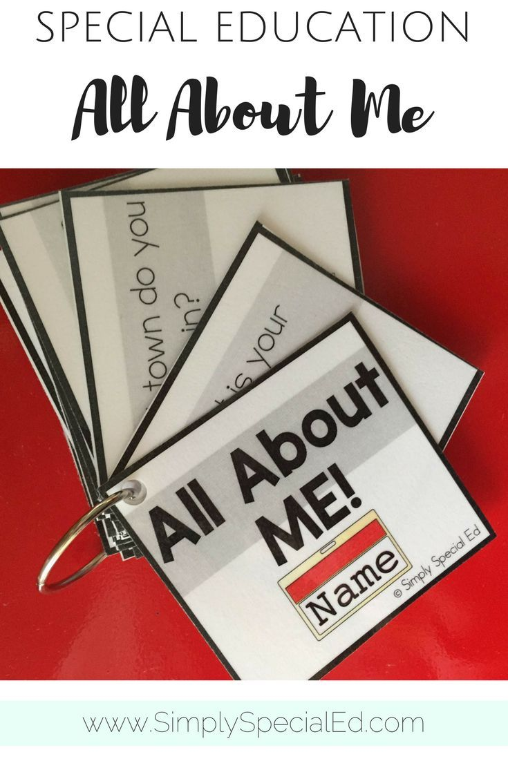 Personal information flip cards to practice all