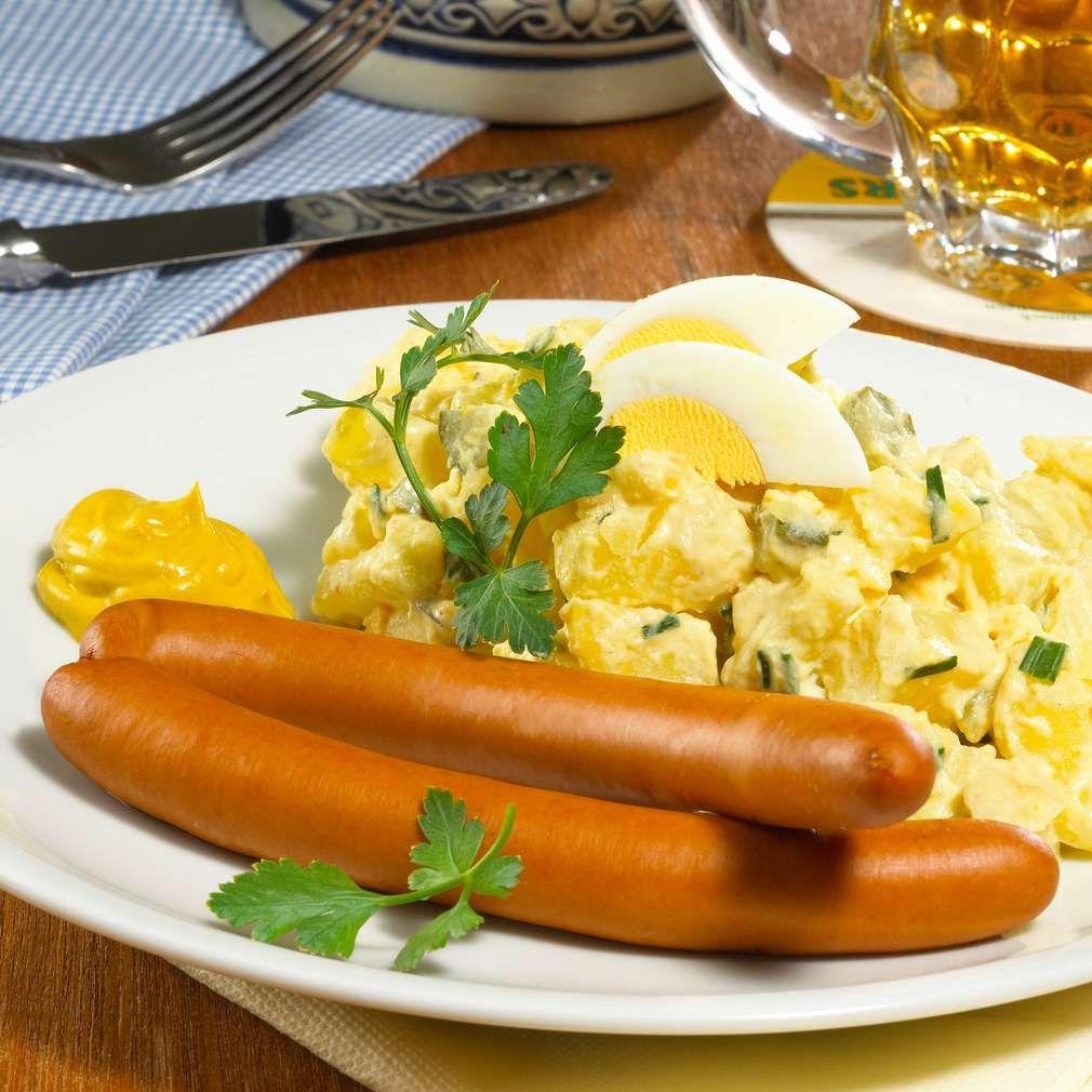 Kartoffelsalat mit Würstchen   Recipe   Breakfast, Bruch, Lunch ...