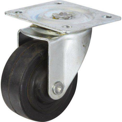 Roulette Pivotante à Platine Pour Ameublement Diamètre 40