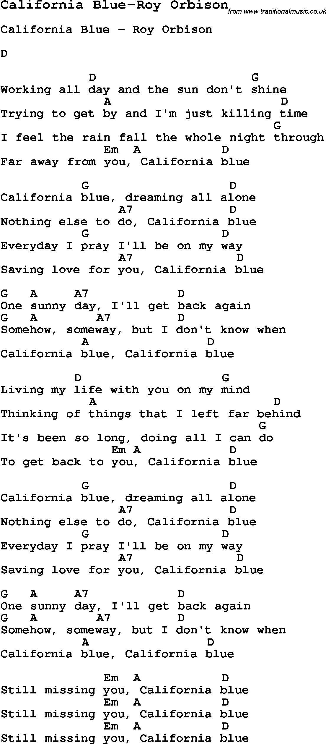 Blues Guitar Song, lyrics, chords, tablature, playing hints