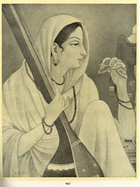 THIS IS THE REAL PICTURE OF SAINT MEERA BAI JI...............GREAT DEVOTEE OF LORD KRISHNA
