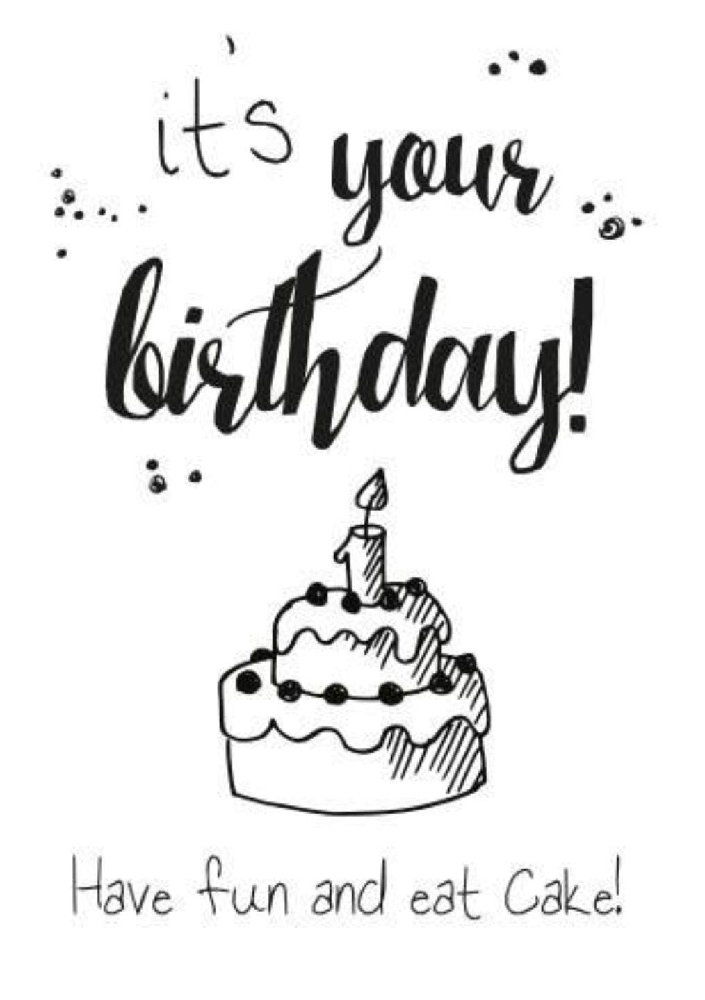 Happy Birthday (met afbeeldingen) | Brief, Kaart ideeën ...