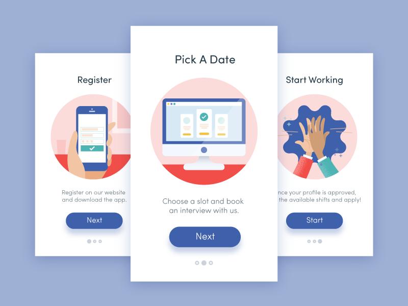 Onboarding Steps Onboarding Mobile Web Design App Design
