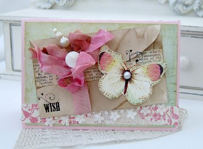 Butterfly envelope card