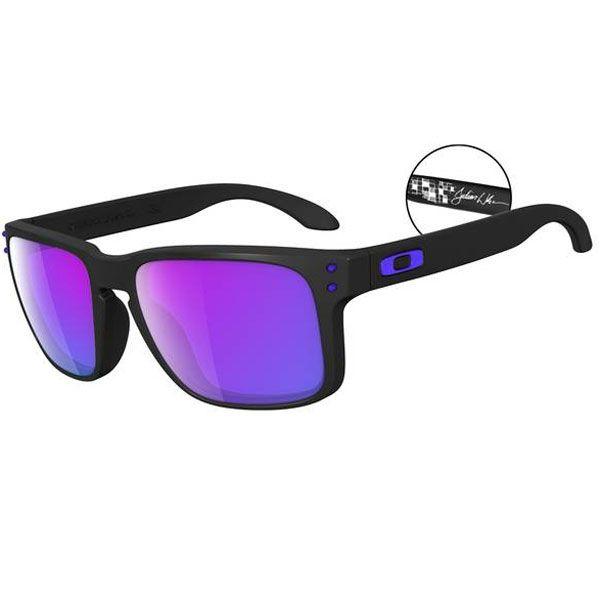 Black And Purple Oakley Sunglasses