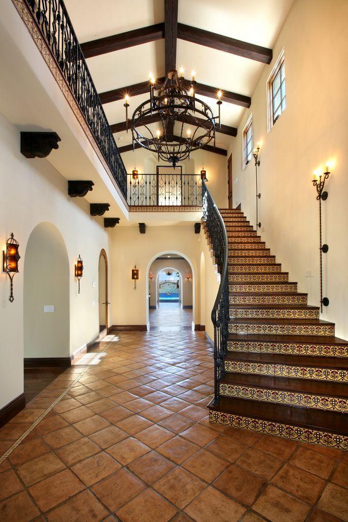 1overlook04hallway Spanish Style Homes Mediterranean