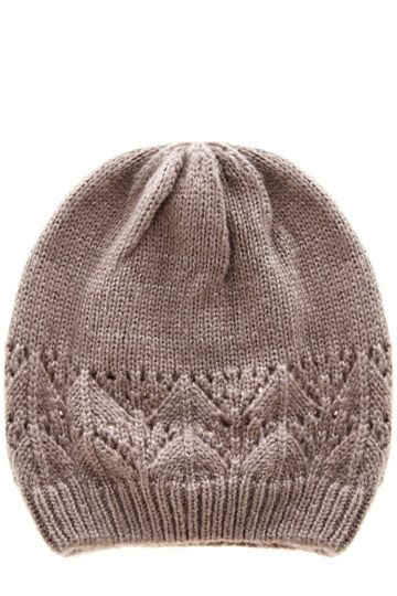 This pretty, cosy hat features a pointelle cut out detail across the fabric and has a slight sparkle across the fabric.#autumncovered